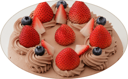 チョコレートケーキ写真