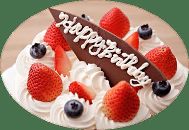 誕生日ケーキデコレーション写真