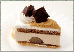栗のケーキ(カット)