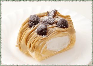 栗のロールケーキ(カット)