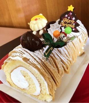 栗のロールケーキの商品写真