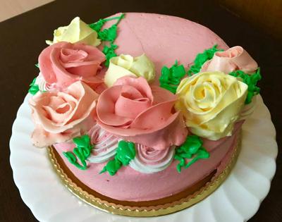 特注5号サイズのいちごサンドデコレーションケーキ