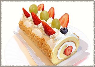 いちごロールケーキ(ホール)